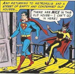 Batwoman fears mice